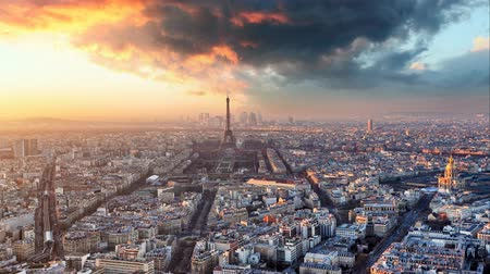 lapse : Paris - Time lapse, France Stock Footage