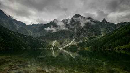Mountain lake in Poland Tatra, Morskie Oko - Time lapse