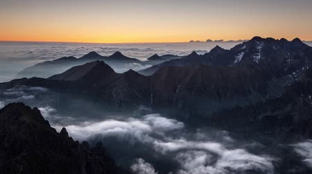 Landscape mountain in Tatras, peak Rysy, Slovakia and Poland, Time lapse