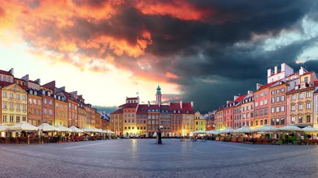 Warsaw, Old town square - Time lapse