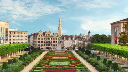 Cityscape of Brussels - Time lapse