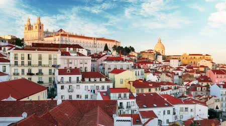 miradouro : Portugal, Lisboa - Old city Alfama, Time lapse