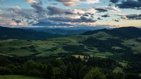 Time lapse of summer landscape in mountains - Pieniny  Tatras, Slovakia