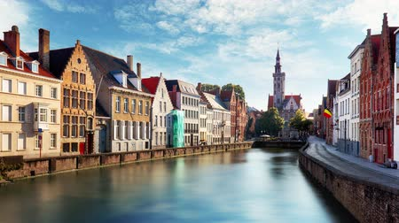 Bruges, Belgium - Scenic cityscape at day, Time lapse