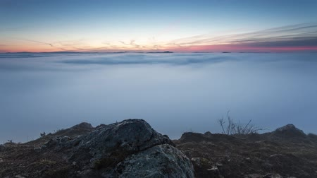 Over the clouds at sunrise, Time lapse video Стоковые видеозаписи