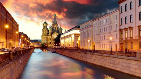 Russia Time lapse, St. Petersburg - Church Saviour on Spilled Blood