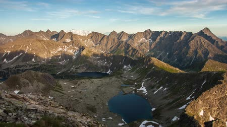 Mountain landscape at summer in Slovakia Tatras, Time lapse