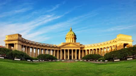 nevsky : Kazan cathedral in Saint Petersburg, Russia - Time lapse Stock Footage