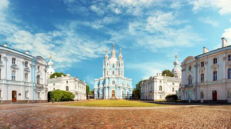Saint Petersburg - Smolny Cathedral, Russia Time lapse