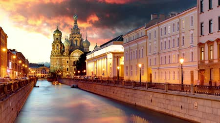 Saint Petersburg - Savior Cathedral, Russia Time lapse