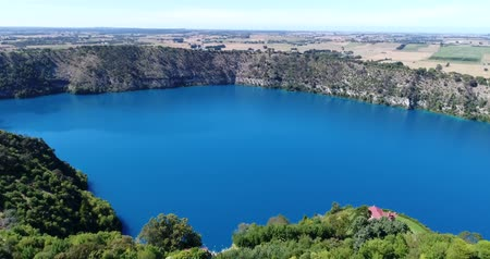 cobalt : Aerial Footage of Blue Lake, Mount Gambier, South Australia