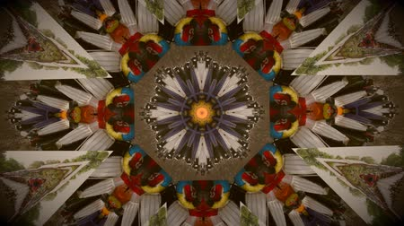 mindset : Vintage motion kaleidoscope background in warm tones for club, concert, music video, event, fashion, show or animation Stock Footage