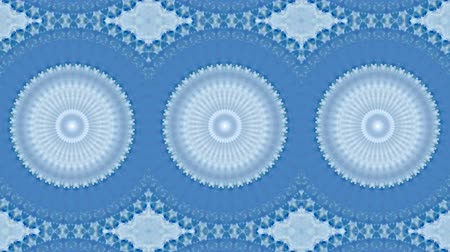 Motion kaleidoscope background in blue and white tone for club, fabric, concert, music video, event, fashion, show or animation Dostupné videozáznamy