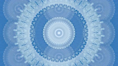 mindset : Motion kaleidoscope background in blue and white tone for club, fabric, concert, music video, event, fashion, show or animation Stock Footage