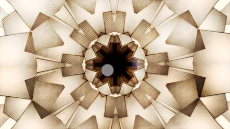 round ornament : Abstract vintage motion symmetric kaleidoscope background with bokeh in warm tones for club, concert, music video, event, fashion, show or animation