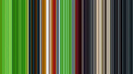 Motion background of vertical multi colored stripe pattern (shades of green,  blue, grey, yellow and red ) Vídeos