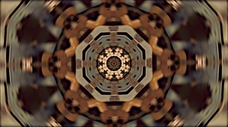 шесть : Abstract dot motion background of psychedelic kaleidoscopic acoustic guitar