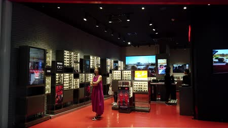 BANGKOK THAILAND - JANUARY 1 : Ray-Ban glasses shop located in ICONSIAM. The Iconsiam is the most popular shopping center in Bangkok on January 1, 2020 in Bangkok, Thailand.