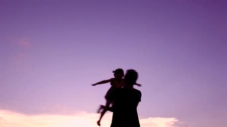 asian family : father playing with daughter Stock Footage