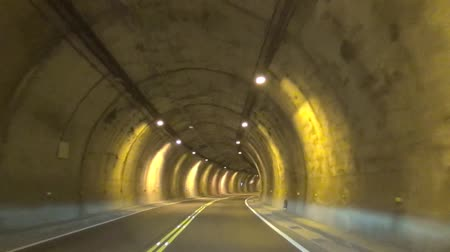 no traffic : Driving fast through the tunnel.time lapse Stock Footage