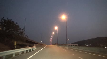 copy space : Timelapse night driving on the road Stock Footage