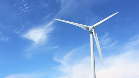 efektywność : Wind power with blue sky background