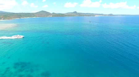 sounthern : Aerial view of kenting national park coastline. Taiwan. Stock Footage