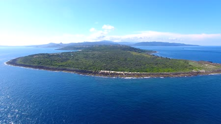 szikla : Aerial view of kenting national park coastline. Taiwan. Stock mozgókép