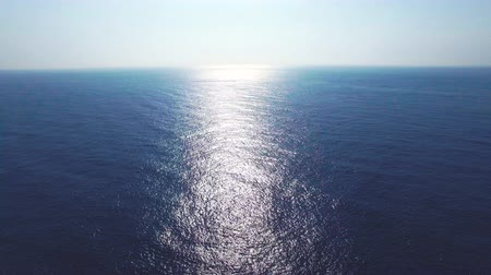 on nature : Aerial view of the blue ocean surface