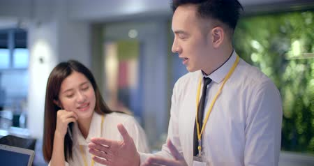 asian young Business people working in office Stok Video