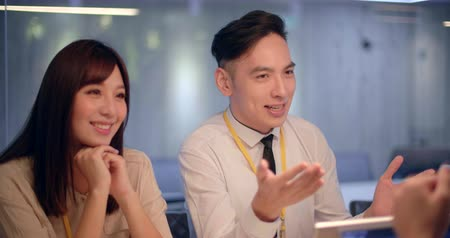asian young Business people working in office 影像素材