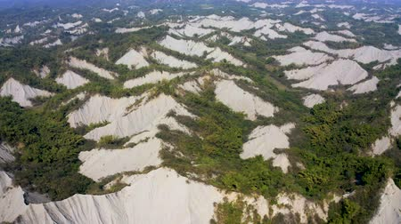 gleba : Aerial view of Tianliao Moon World. Volcano mud and limestone area. Kaohsiung. Taiwan
