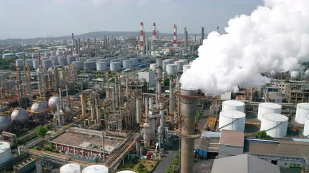 torre : Aerial view oil and gas petrochemical industrial and Refinery factory