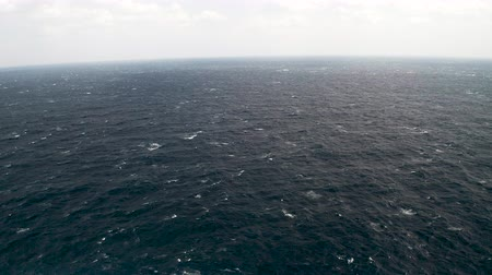 gale : aerial view of Open ocean waters, gale force winds and whitecaps at winter