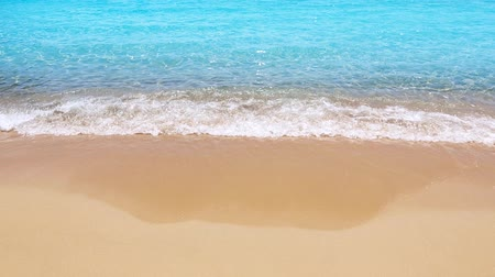 derűs : Tropical beach shore ocean waves detail in calm turquoise water aqua With Color