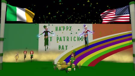 sortudo : Saint Patricks day 3D cartoon animation. This is the second of two clips and has a black sky, for you to add your own texture to.
