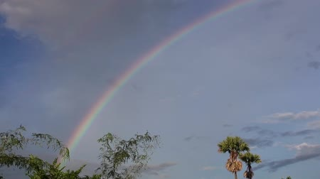 ibolya : Rainbow Sweep. A sweeping pan from left to right across a tropical rainbow.