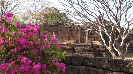 The Khmer temple at Phanom Rung Historical Park. Over a thousand years old and built on an extinct volcano