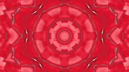 köşeler : red animated patterns. abstract kaleidoscope. 3d render