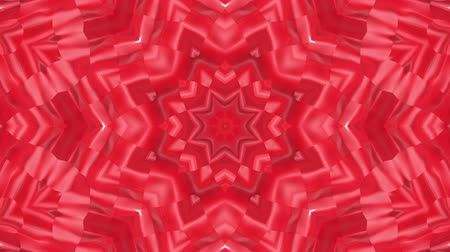 углы : red animated patterns. abstract kaleidoscope. 3d render