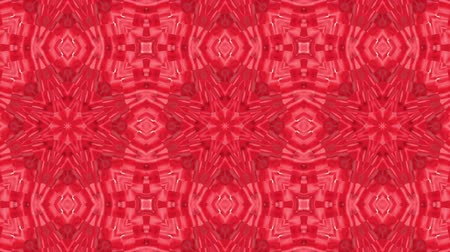 escarlate : red animated patterns. abstract kaleidoscope. 3d render