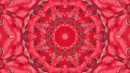 narożnik : red animated patterns. abstract kaleidoscope. 3d render