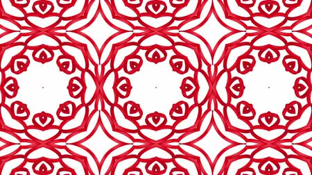 narożnik : Red three-dimensional kaleidoscope patterns. animated abstract. 3d render