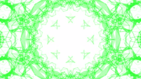 narożnik : green kaleidoscope patterns. animated abstract. 3d render Wideo