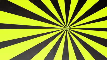 listras : Rotating striped yellow-black circles. Animated. 3d render