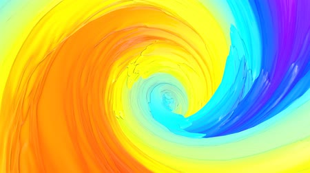 dobras : Multicolored abstract animated background. Spiraling. 3d render