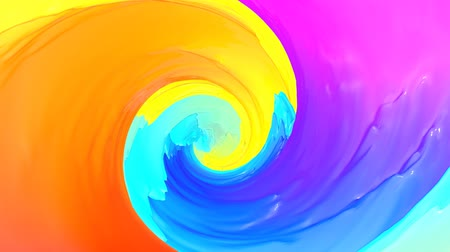 záhyby : Multicolored abstract animated background. Spiraling. 3d render