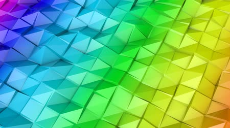 screen saver : rainbow slowly deformable surface. 3d render Stock Footage