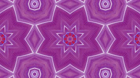abstrakcja : red-blue animated patterns. abstract kaleidoscope. 3d render