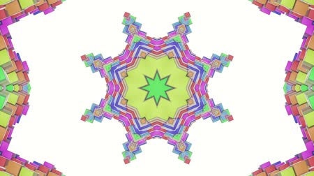 screen saver : multicolored abstract animated patterns. kaleidoscope. 3d render